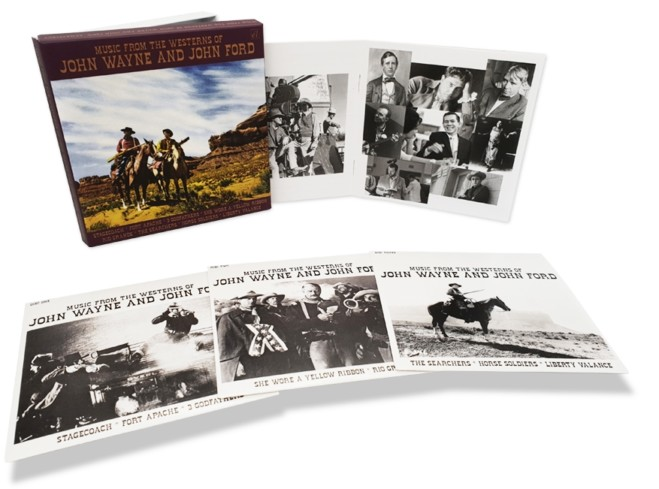 Music from the westerns of John Wayne and John Ford: 3CD Boxset, video unboxing
