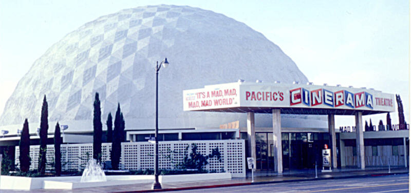 "Il Cinerama Dome ai tempi della premiere di ""it's a mad, mad, mad, mad, world"