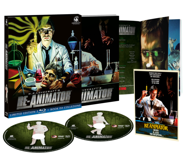 Re-Animator di Stuart Gordon dal 28 maggio in Blu Ray limitato grazie a Midnight Classics
