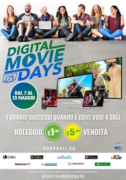 Digital Movie Days, guarda i film online a prezzi stracciati fino al 13 maggio