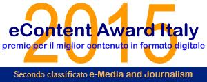 eContent Award 2015, indie-eye secondo classificato e-media and Journalism
