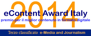 eContent Award 2014, indie-eye terzo classificato e-media and Journalism