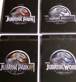 Jurassic Park Collection – 4 doppi dischi Blu Ray e 4k UltraHD – Il video unboxing