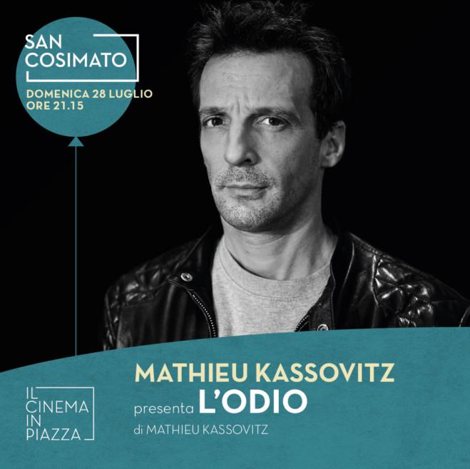 Mathieu Kassovitz presenta L'odio, ospite de Il Cinema In Piazza a San Cosimato, Trastevere