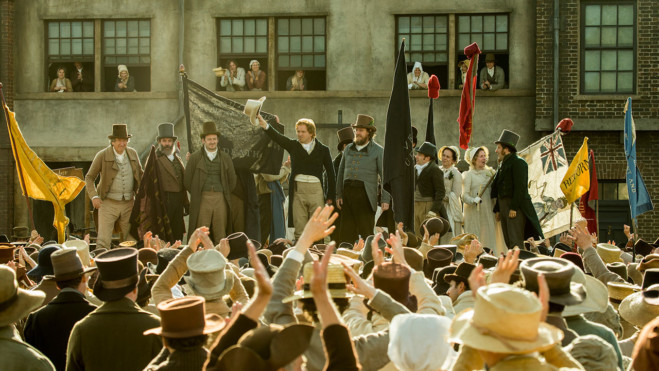 Peterloo la recensione del nuovo film di Mike Leigh e l'intervista