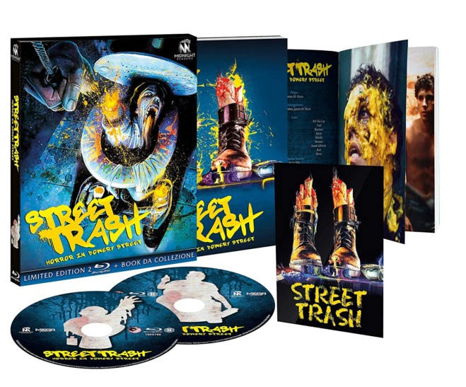 Street Trash – Horror in Bowery Street: Il gore-cult di Jim Muro tra anarchia e action painting: unboxing del Blu Ray