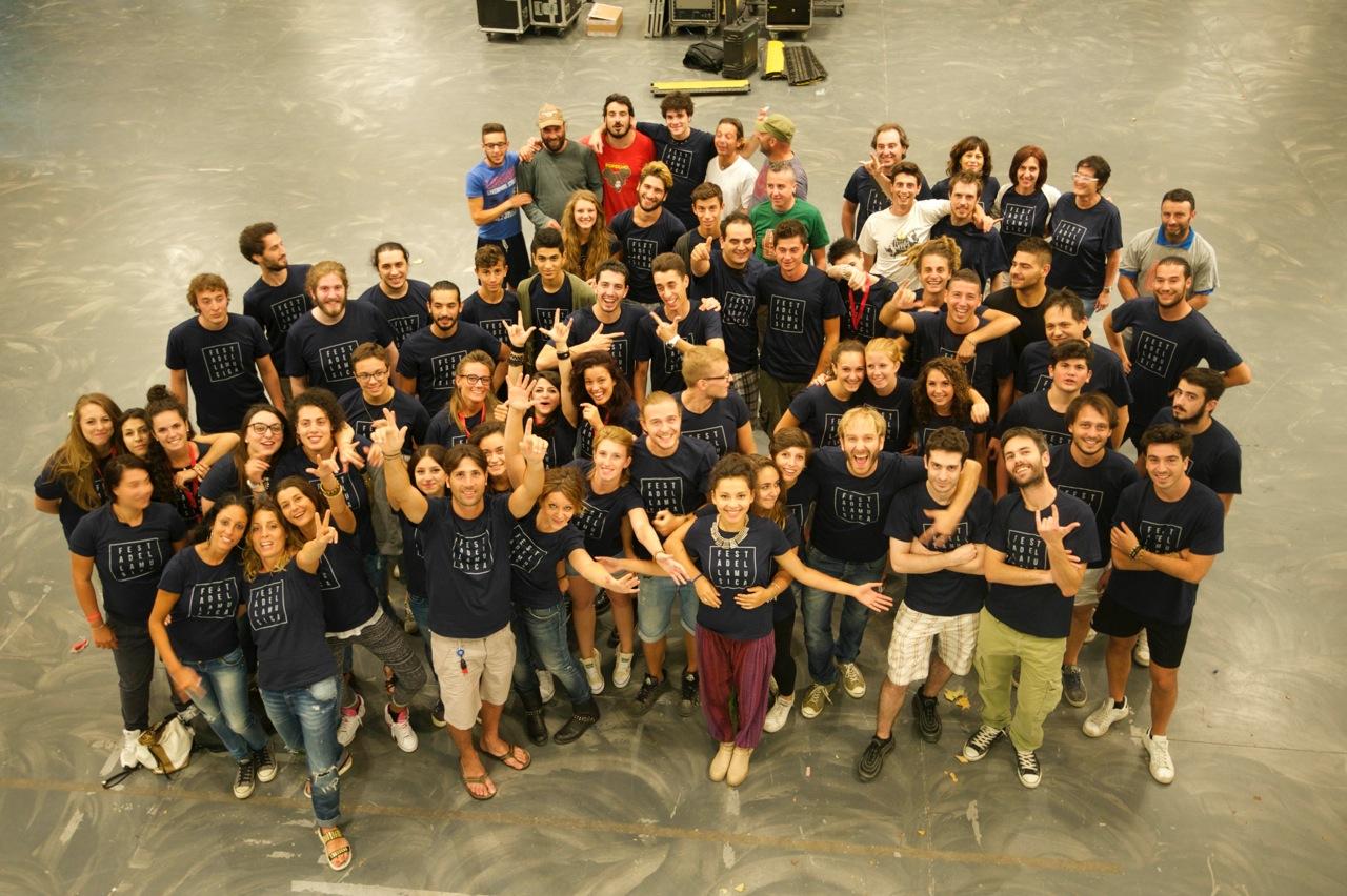 Festa della Musica 2014 - Alcuni volontari - Foto di Emiliano Migliorucci