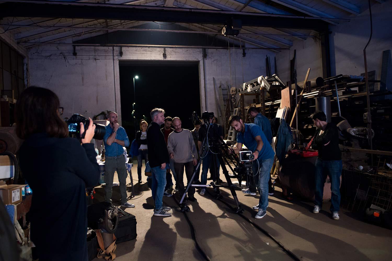 """Patrizio Gioffredi e il collettivo John Snellinberg sul set di """"Bandits on Mars"""""""