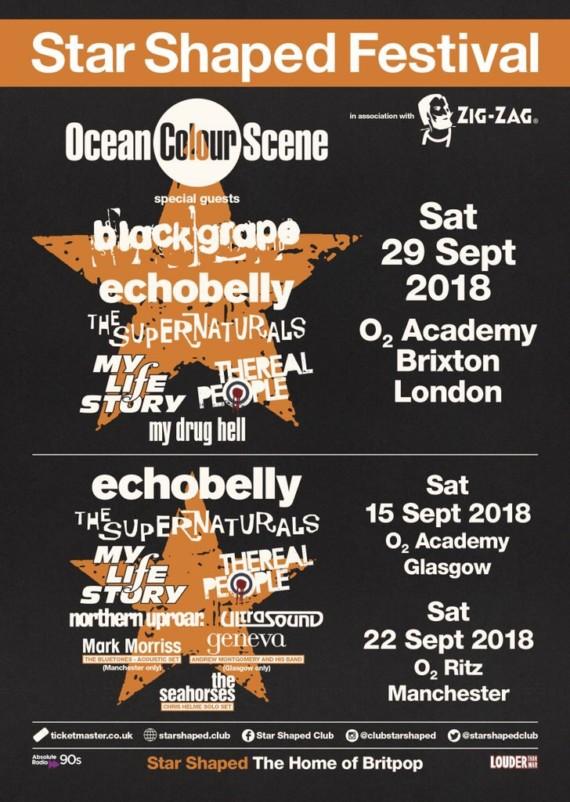 Ocean Colour Scene + Echobelly @ Star Shaped Festival : vola a vederli a Londra, Manchester, Glasgow